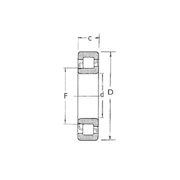 NJ314 FBJ Cylindrical Roller Bearings