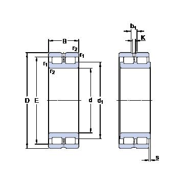 NNCL 4832 CV SKF Cylindrical Roller Bearings