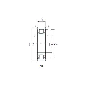NF222 KOYO Cylindrical Roller Bearings