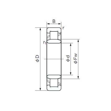 NU 2310 E NACHI Cylindrical Roller Bearings