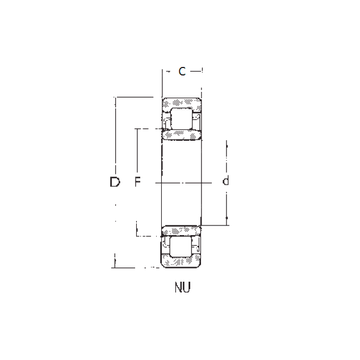 NU214 FBJ Cylindrical Roller Bearings