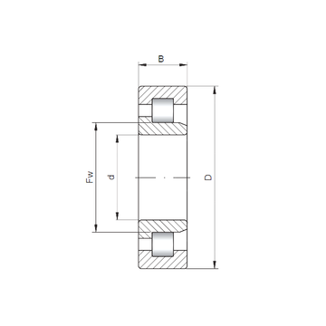 NJ2034 ISO Cylindrical Roller Bearings