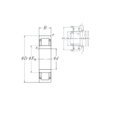 NU326EM NSK Cylindrical Roller Bearings